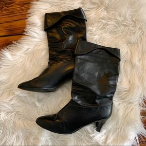 VINTAGE 1970's Slouch Ankle Boots